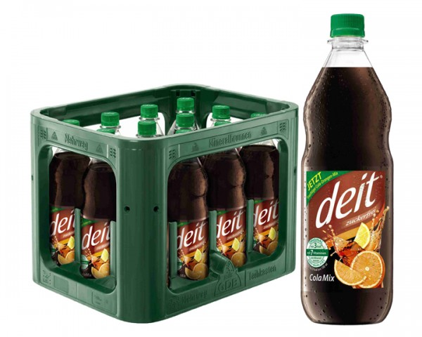 Deit Cola Mix 12x1,0 ltr PET