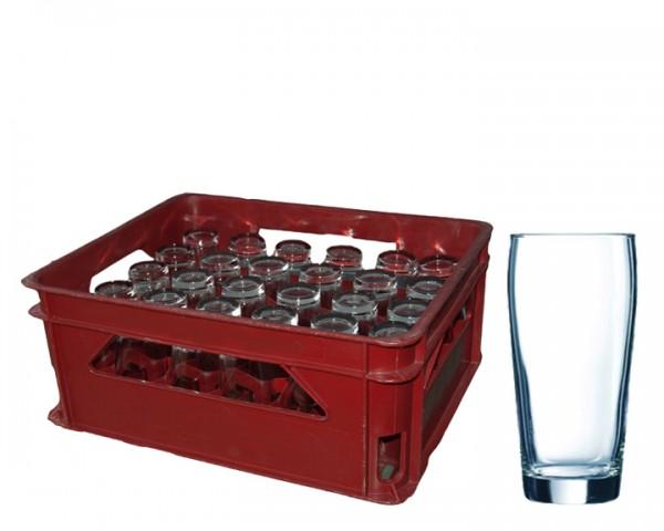 Bier - Wassergläser Korb 30 Gläser 0,3 ltr