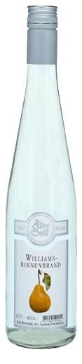 Alde Gott Williams Birnenbrand Flasche 0,7 ltr