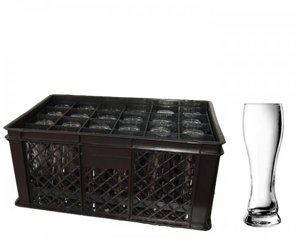 Hefegläser Korb 24 Gläser 0,3 ltr.
