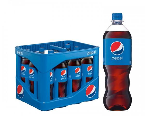 Pepsi Cola Kiste 12x1,0 ltr. PET