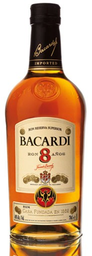 Bacardi 8 Jahre Flasche 0,7 ltr.
