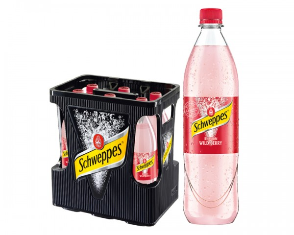 Schweppes Russian Wild Berry Water 6x1,0 ltr. PET