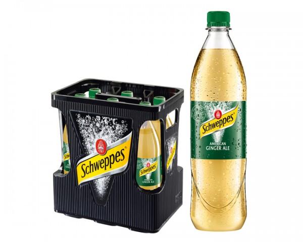 Schweppes Ginger Ale Kiste 6x1,0 ltr. PET