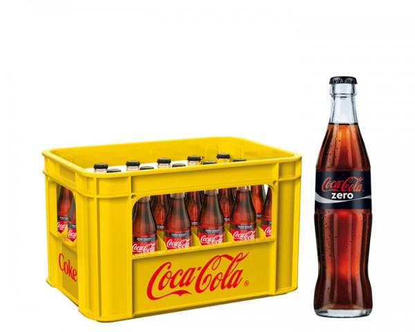 Coca Cola Zero Kiste 24x0,33 ltr.