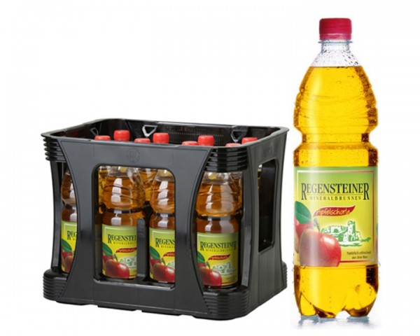 Regensteiner Apfelschorle Kiste 12x1,0 ltr. PEW