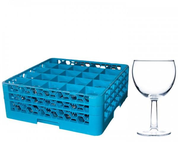Weingläser 0,2 ltr Korb 25 Gläser