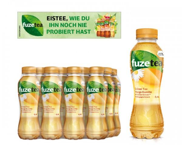 Fuze Tea Grüner Tee Mango Kamille Pack 12x0,5 ltr. PEW