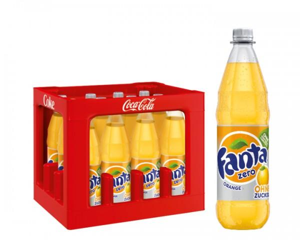 Fanta Orange Zero Kiste 12x1,0 ltr. PET