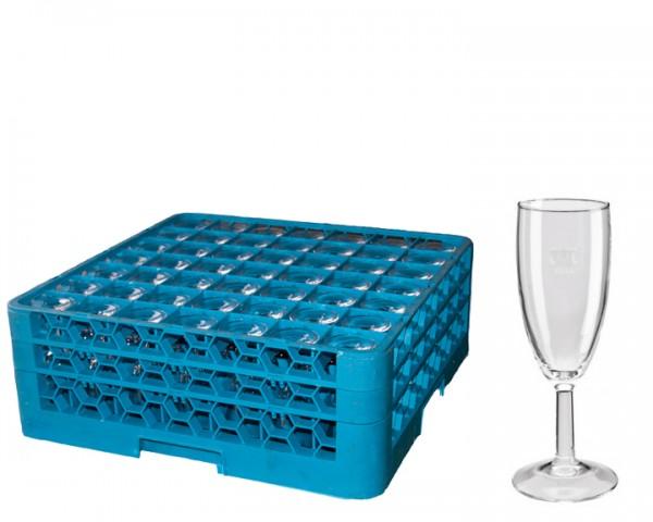 Sektgläser 0,1 ltr  Korb 49 Gläser