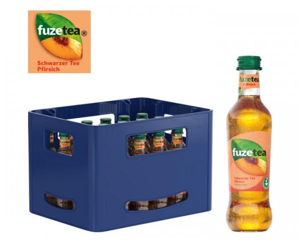 Fuze Tea Schwarzer Tee Pfirsich Pack Kiste 24x0,3 ltr.