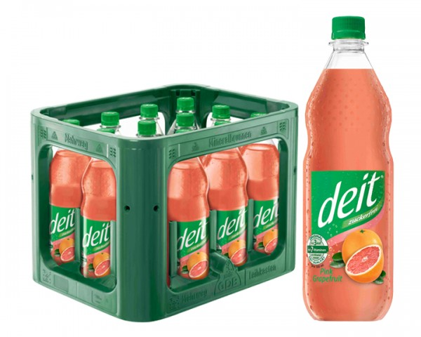 Deit Pink Grapefruit 12x1,0 ltr PET