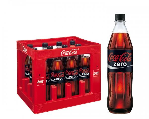 Coca Cola Zero Kiste 12x1,0 ltr. PET