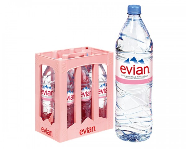 Evian Kiste 6x1,5 ltr. PEW