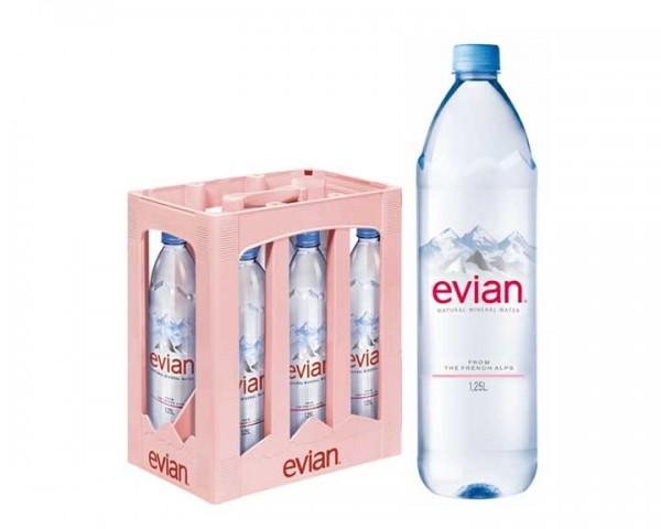 Evian Kiste 6x1,25 ltr. PEW