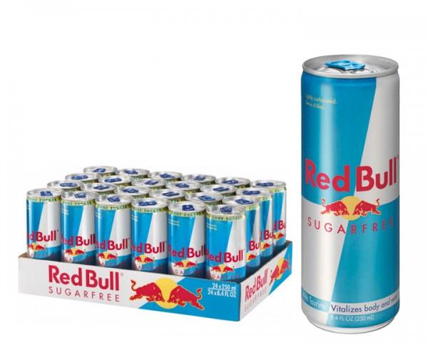 Red Bull Sugarfree Tray 24x0,25 ltr. Dose