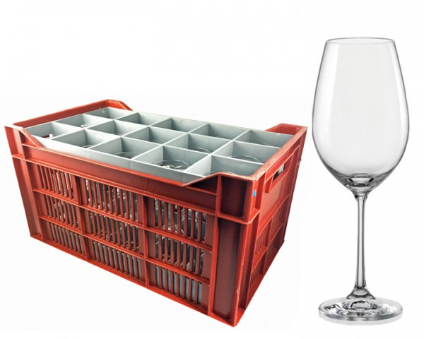 Weißweinglas Korb 15 Gläser 0,15 ltr