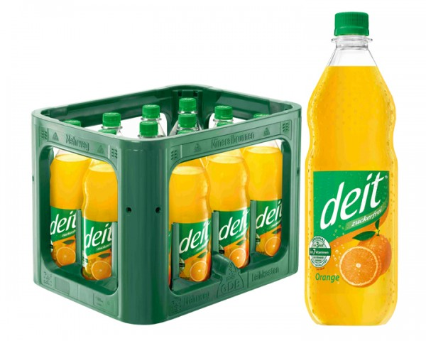 Deit Orange 12x1,0 ltr PET