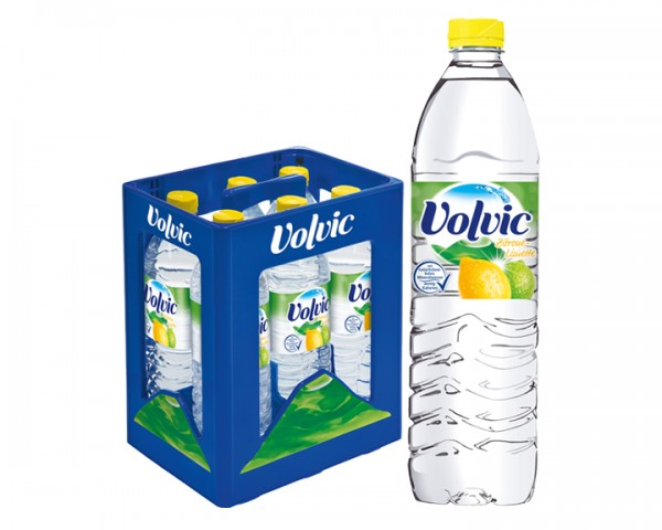 Volvic Zitrone Limette Kiste 6x1,5 ltr. PEW