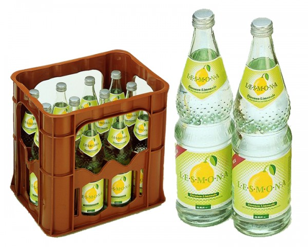 Lesmona Zitronenlimonade Kiste 12x0,7 ltr.