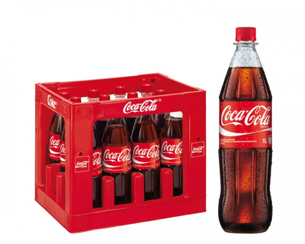 Coca Cola Kiste 12x1,0 ltr. PET