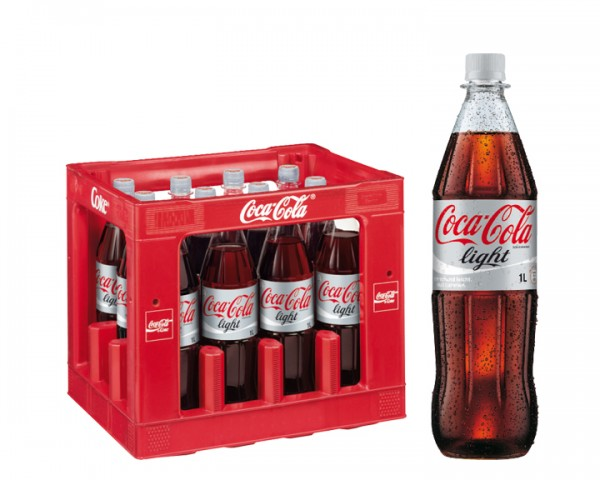 Coca Cola light Kiste 12x1,0 ltr. PET