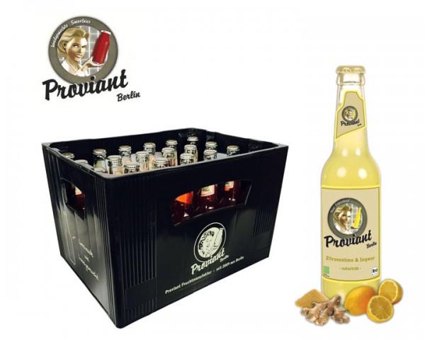 Proviant Zitronenlimo & Ingwer Kiste 24x0,33 ltr.