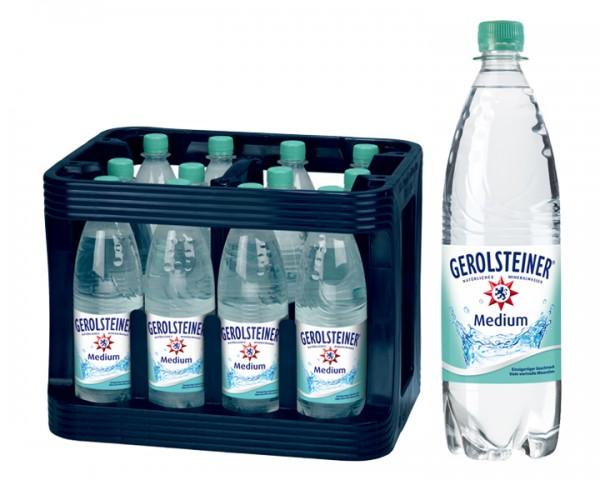 Gerolsteiner medium Kiste 12x1,0 ltr. PET