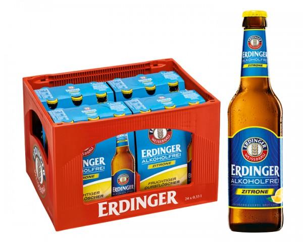 Erdinger alkoholfrei Zitrone 24x0,33 ltr