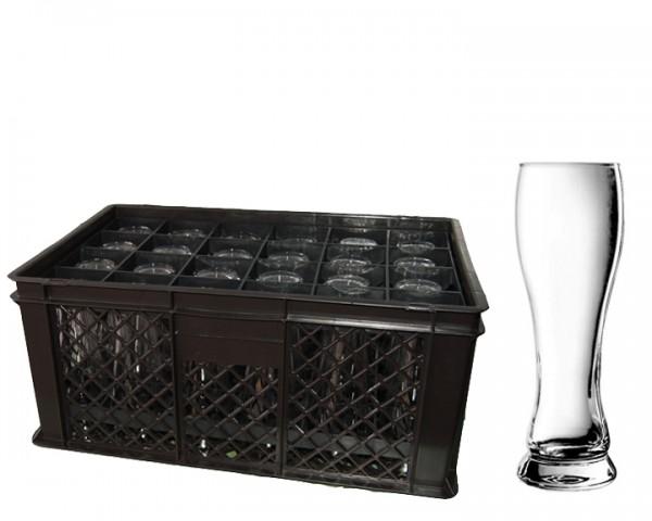 Hefegläser Korb 24 Gläser 0,5 ltr.